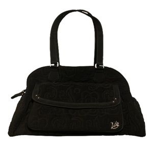 Vera Bradley black quilted diaper bag